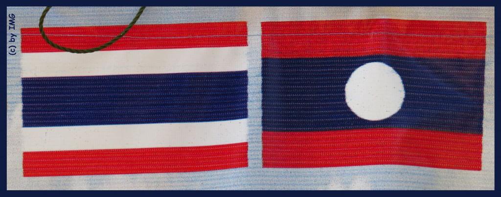 26.07.14 Flaggen Thailand Laos
