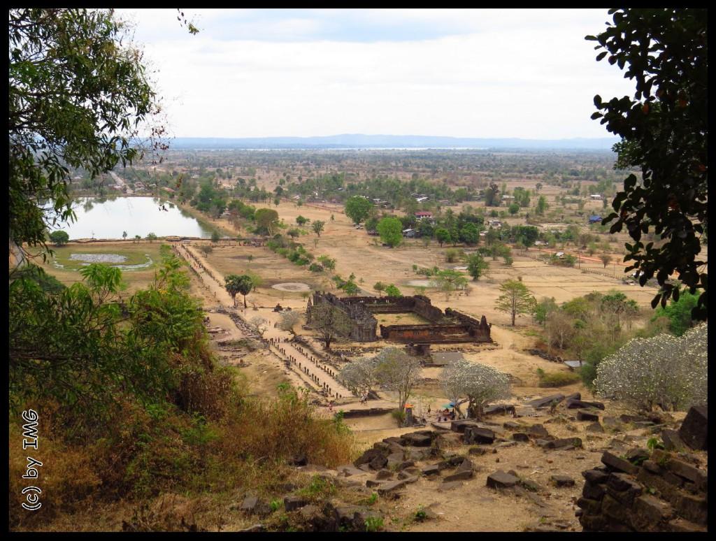 26.07.14 Vat Phou Ausblick von oben