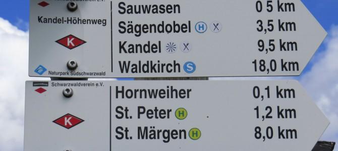 Schwarzwald – Kandelhöhenweg – Freiburg nach St. Peter