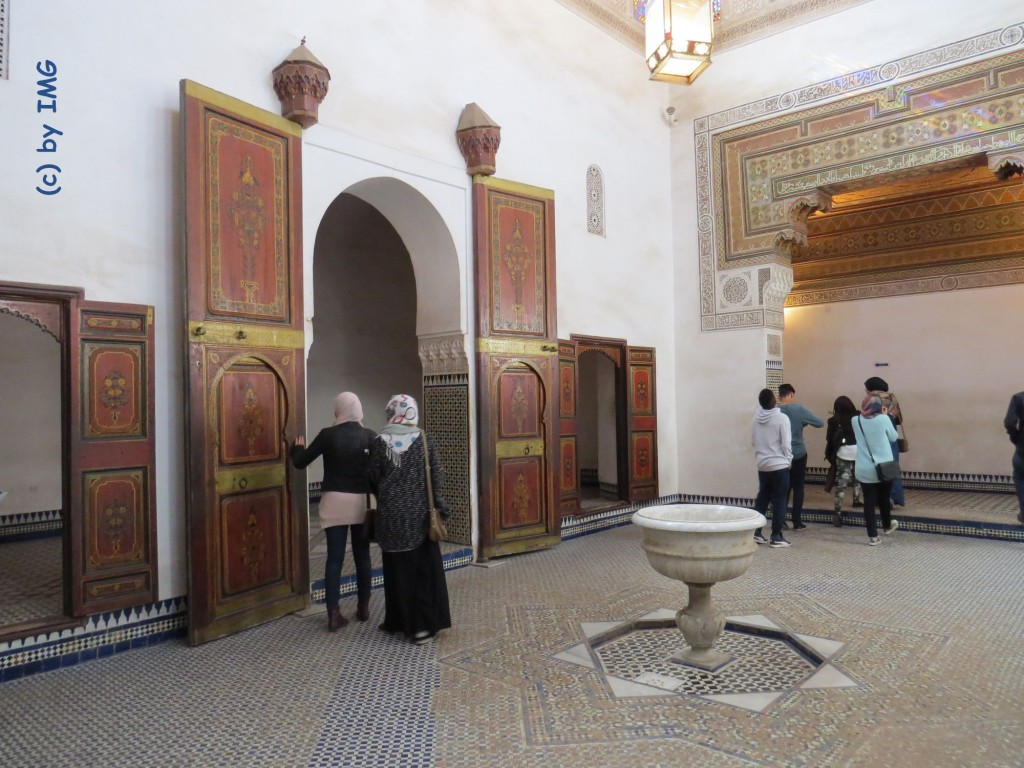 bahia palast marrakesch marokko