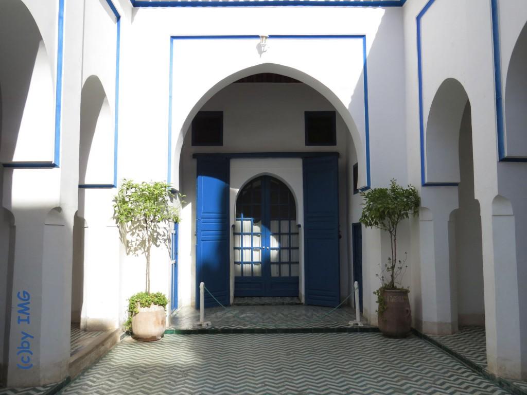 bahia palast tor marrakesch