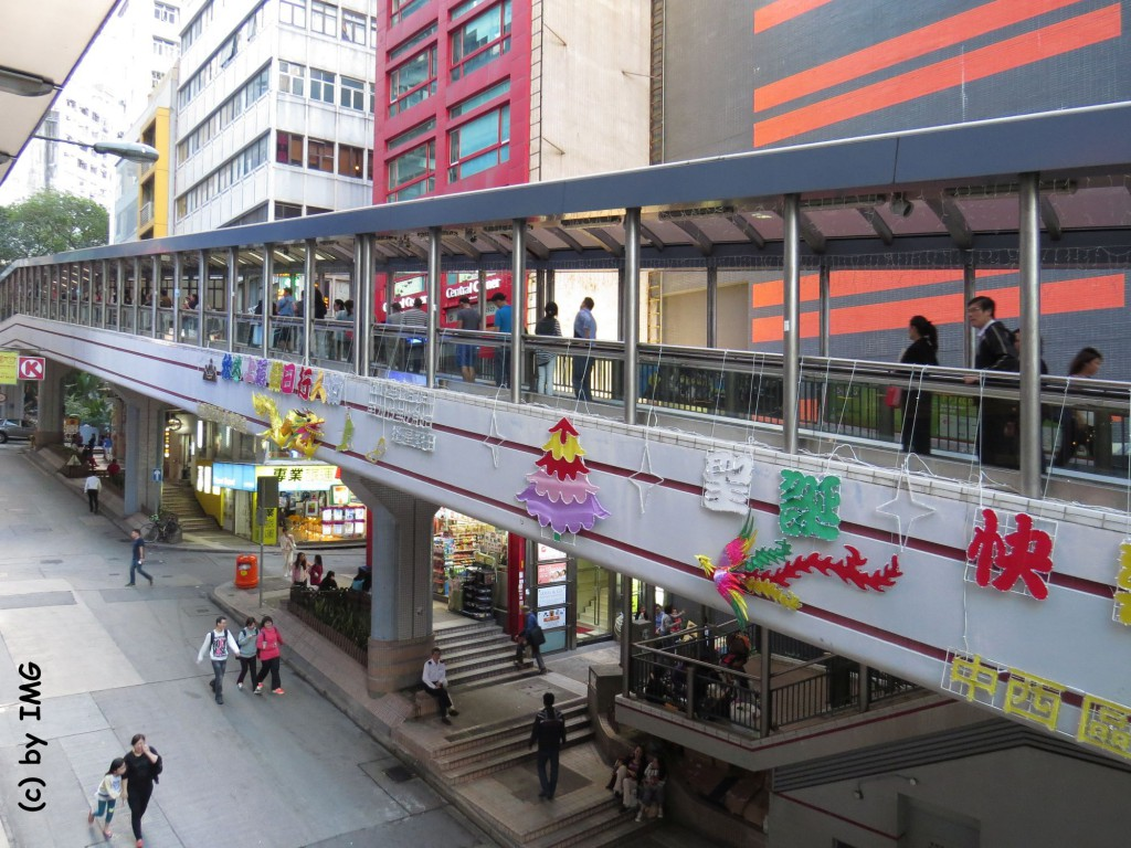 Escalators Hongkong Central Rolltreppe