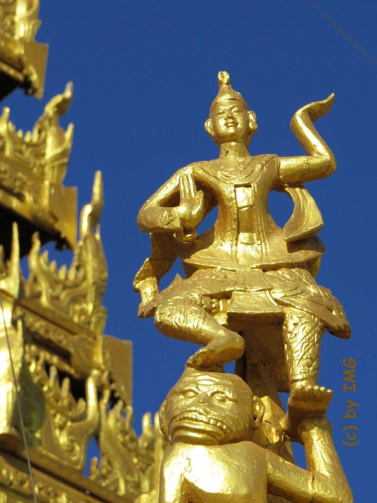 Shwezigon Bagan Myanmar Pagode Stupa Gold