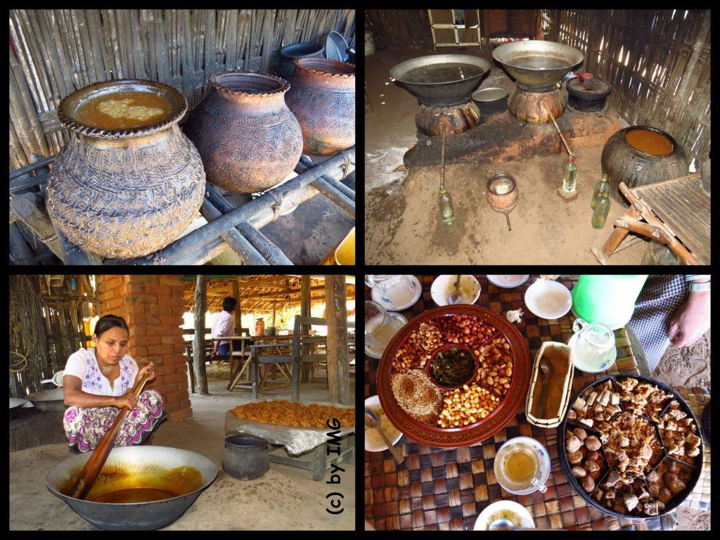 Mount Popa Myanmar Bagan Burma Palschnapps Palmwein