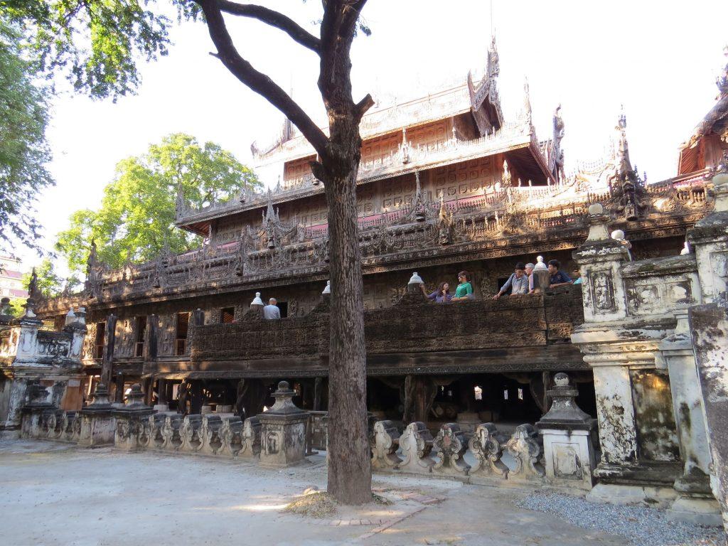 Teakholzkloster, Mandalay, Myanmar