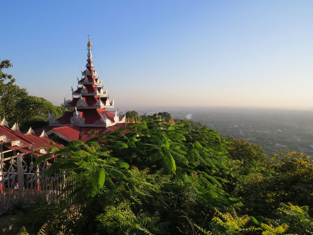 Sunset, Mandalay Hill, Myanmar