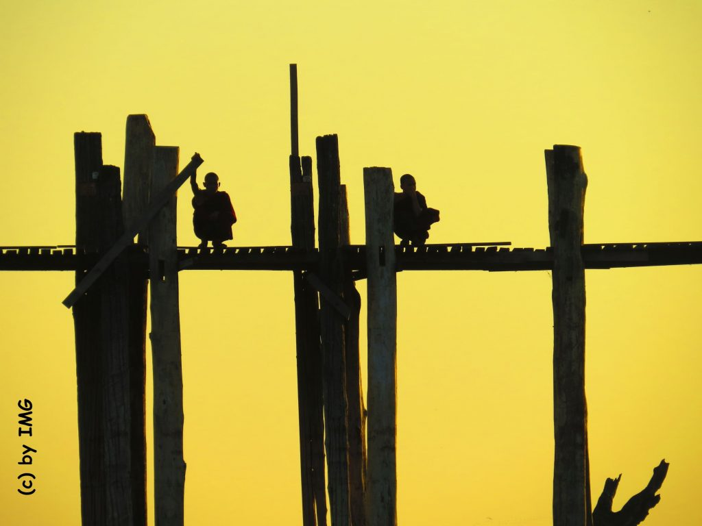 U-Bein-Bridge Brücke Myanmar Sunset